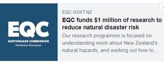 EQC Biennial Grant funding